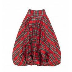 Tartan Side Button Skirt