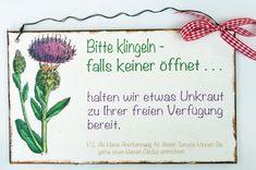Türschild Garten von Un-Art-Tick auf DaWanda.com