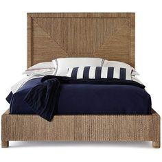 Palecek Decklin King Platform Bed ($5,499) ❤ liked on Polyvore featuring home, furniture, beds, medium brown, king furniture, king size bed platform, brown's furniture, bed platform and platform bedframe