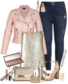 Plus Size Blush Biker Jacket Outfit - Plus Size Outfit Idea - Plus Size Fashion for Women - alexawebb.com #alexawebb #plussize