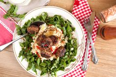 Free Recipe Friday: Lamb and spinach meatballs on cauliflower and buttermilk mash and an update from HQ Free Food, Cauliflower, Spinach, Lamb, Rolls, Dishes, Ethnic Recipes, Cauliflowers, Buns