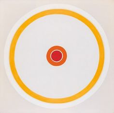 ::Mandarin:: 1961 Kenneth Noland Collection of Robert and Jane Meyerhoff 20th Century Painters, Kenneth Noland, Post Painterly Abstraction, Toledo Museum Of Art, National Gallery Of Art, Colour Field, Abstract Painters, Abstract Styles, Diy Wall Art