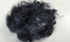 Firestar fibre hand dyed Charcoal 20 grams .70 oz spinning felting needle felting 11222 by feltfibrecraft on Etsy
