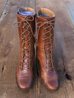 Lace Up Boots / Tall Boots / Boho Boots / by littleedenvintage, $79.00