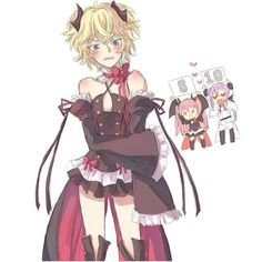 Mika with Krul's costume. ...Felid tho, LOL >> my favourite owari no seraph pin ever
