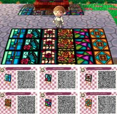 Animal Crossing: New Leaf QR Codes Oh god, that blue path... I can't wait to start building my town again! <3