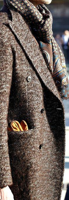 Men's Fashion ~ Tweed Topcoat