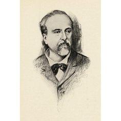 Emmanuel Chabrier 1842-1894 French Composer Portrait By Chase Emerson American Artist 1874-1922 Canvas Art - Ken Welsh Design Pics (12 x 18)