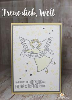 stampin up wonder of christmas angel blog freue dich welt stempeltier weihnachtskarte
