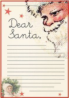 FREE printable letter to Santa Claus template ^^ #Christmas #Holiday #kids