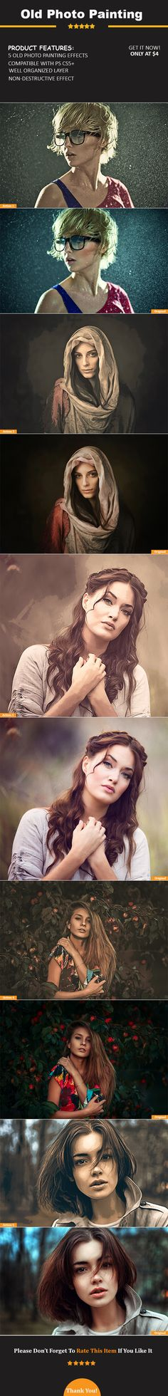 5 Old Photo Painting Photoshop Actions