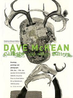 Dave McKean - Poster - 2013 - Callisto & Other Matters. Exhibition poster for Galerie Petit Papier 2013 Graphic Design - Illustration
