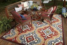 Mohawk Home Printed Indoor/ Outdoor Mystic Ikat Primary Outdoor Carpet, Indoor Outdoor Rugs, Outdoor Area Rugs, Outdoor Spaces, Area Rugs For Sale, Rug Sale, Oriental Design, Oriental Style, Oriental Rug