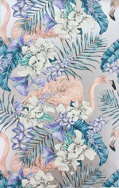 Osborne & Little - Matthew Williamson - Flamingo Club Wallpaper 10m Roll - Wallpaper - All - Wallpaper & Decor