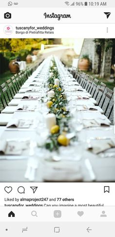 Home Wedding Inspiration, Tuscan Wedding, White Picture, Wedding Pictures, Real Weddings, Wedding Planner, Table Decorations, Tables, Fat