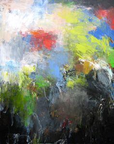 Charlotte Foust, Cascadia, 2014, acrylic on canvas, 60 x 48