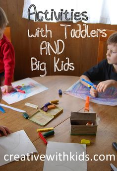 7 Tips for Toddler Activities While You're Busy With the Big Kids idea, children toy, busi, babi, kids, toddlers, big kid, kiddo, toddler activities
