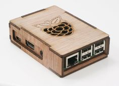 Protect your Raspberry Pi B+ or 2B with the DecaPi Slider, crafted from organic birch wood. The unique design allows for quick and easy installation of the board while also protecting it. - Designed a