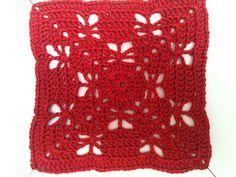 [Free Pattern] Butterflies Garden Crochet Granny Square
