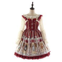 fa86188cde4 Classical Lolita dress high waist straps hanging shirt JSK Manluyunxiao