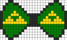 Triforce Bow Perler Bead Pattern / Bead Sprite