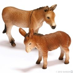 Playground      Your nearest Schleich retailers      Wish list    Schleich-s.com        Change Region    World of Nature  World of History  World of Fantasy  World of Smurfs  Books & more        You are here:      Product Range      World of Nature      Farm Life      Farm Life Animals      Donkeys    Donkeys (Equus africanus)    Donkeys are built with stocky, sturdy bodies.