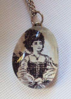 handmade jewelry  vintage  victorian  portrait