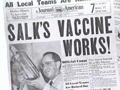 Polio vaccine 1950's