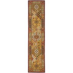 Safavieh Handmade Heritage Traditional Bakhtiari Multi/ Red Wool Rug x Size x (Cotton, Oriental) Traditional Area Rugs, Traditional Design, Wool Area Rugs, Wool Rug, Lava, Floral Area Rugs, Wool Runners, Outdoor Rugs, Runes