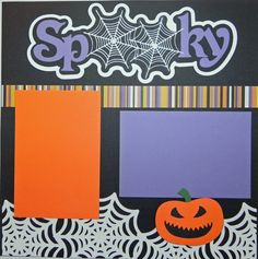Halloween Handmade Premade 12X12 2Page by MemoriesByDezyn on Etsy, $11.95