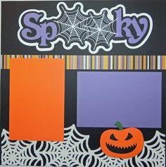 Handmade Halloween Premade 12X12 2Page by MemoriesByDezyn on Etsy, $9.95