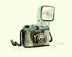 Vintage camera by francesca tuttolani, via Behance
