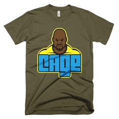 One of a kind design of comic book hero Luke Cage This American Apparel t-shirt is the smoothest and softest t-shirt you'll ever wear. Luke Cage Shirt, Comic Book Heroes, Comic Books, American Apparel, Netflix, Third, Stars, Mens Tops, How To Wear