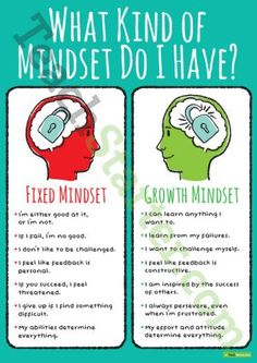 Growth and Fixed Mindset Poster