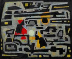 Alfred Manessier, Variation of Games in the Snow, 1951. Oil on canvas, 19 5/8 x 23 7/8 inches (49.9 x 60.6 cm)