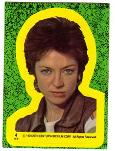 """""""Lambert"""" Alien Trading Sticker - Too funny, Alien was an R rated movie, yet they had trading cards for kids."""