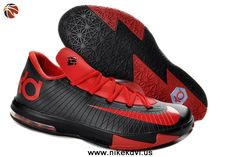 599424-806 Nike Zoom KD 6 Low Red Black Kevin Durant Shoes