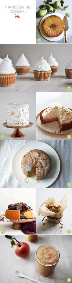 Thanksgiving desserts from The Sweetest Occasion http://www.dwellstudio.com/blog/annual-modern-thanksgiving/