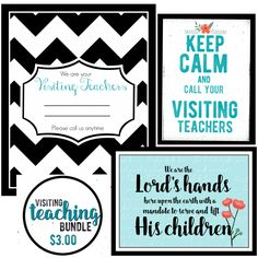 LDS Visiting Teaching Bundle- 5x7- Instant digital download by Mimileeprintables on Etsy #mimileeprintables #visitingteaching #printables #keepcalm #reliefsociety #lds #wearethelordshands #sisters