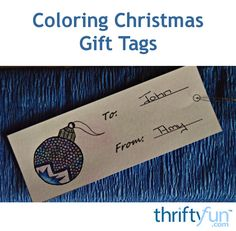 This page contains adult coloring Christmas gift tags. Adult coloring is currently a popular pastime. Of course anyone can work on these intricately drawn tags.