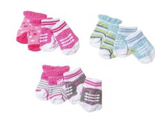 £7.95 GBP - Baby Born Dolls Socks - 2 Pairs For Boy Or Girl Baby Born Doll By Zapf Creation #ebay #Collectibles