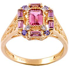 I love how ridiculous this ring is.  Michael Valitutti 14k Gold Multi-gemstone and Diamond Accent Ring
