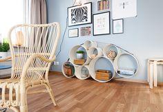 Pastel blue Scandinavian interior 2