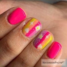 Hard Gel Nails, Summer Gel Nails, Gel Nail Art, Fabulous Nails, Gorgeous Nails, Pretty Nails, Manicure Nail Designs, Nail Manicure, Michelle Nails