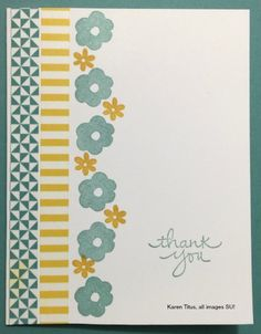 Quick & Easy Thank You card using Endless Thanks Stampin' Up! stamps set…
