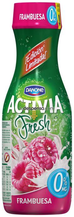 Danone Activia Fresh Raspberry Drinkable Yogurt Spain
