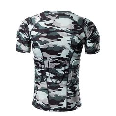 Amazon.com : DGYAO Men's Boys Camouflage Color Safe Guard Padded Compression T-shirt Protective Short Sleeve Tee Shirt Rib Chest Protector Suit for Paintball Skateboard Skiing Parkour Contact Sports : Sports & Outdoors