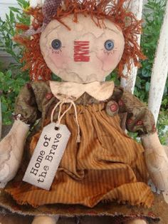 PRIMITIVES FROM THE ATTIC: Awesome Primitive/Folk Art Dolls by Raggedy Haven!