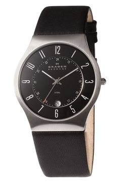 Skagen Stainless Steel Case Watch available at #Nordstrom
