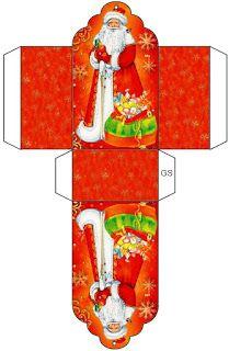 Новогодние распечатки для кукол: коробка с дедом Морозом Christmas Activities, Christmas Printables, Christmas Projects, Holiday Crafts, Christmas Gift Box, Christmas Makes, Diy And Crafts, Paper Crafts, Christmas Artwork